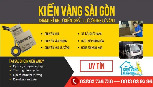 Kiến Vàng Sài Gòn mang đến dịch vụ lý tưởng